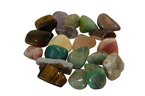 Echte & gepolijste trommelstenen/halfedelstenen uit Zuid-Afrika - bonte 500 gram mix in zak - bergkristal/edelsteen/tafeldecoratie/strooidecoratie 15-20mm multicolor