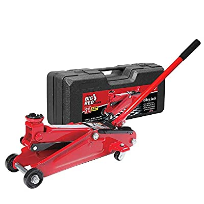 BIG RED T825013S1 Hydraulic Trolley Floor Jack with Carrying Case