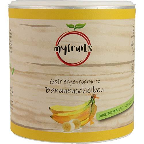 myfruits® Bananenscheiben gefriergetrocknet 100g zu 100% aus Bananen - ohne Zucker - Zusätze - Rohkostqualität