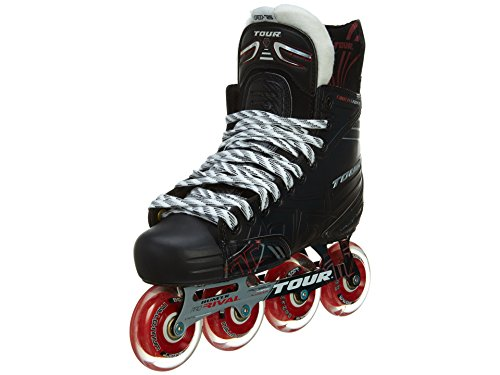 TOUR HOCKEY ADULT FB-725 LE INLINE HOCKEY SKATES BLACK/RED SIZE 8