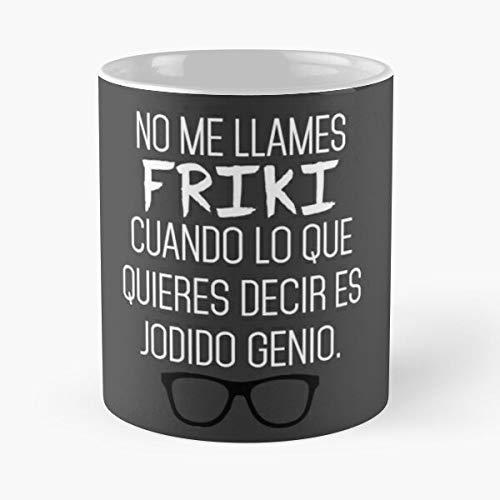 DesignDetail Genius Nerd Geek Camisetas Swot Originales Molonas Frikis Personalizadas La Mejor Taza de café de cerámica de mármol Blanco de 11 oz