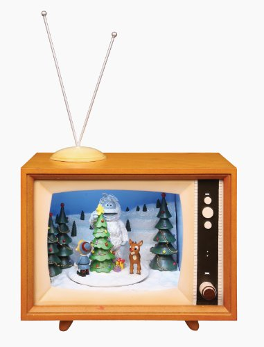 Rudolph 8-1/2' Action Musical Lighted TV The Red Nose Reindeer and Friends