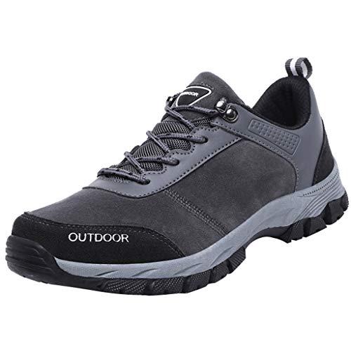 BURFLF Mode Herren Schuhe, Männer Die Neuen im Freien Wanderschuhe der Art- und Weise Casual Große Größe rutschfeste Haltbare Gehende Schuhe