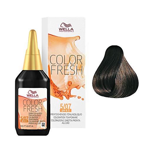 Wella Professionals Color Fresh 5/07 hellbraun natur-braun, 1er Pack (1 x 75 ml)
