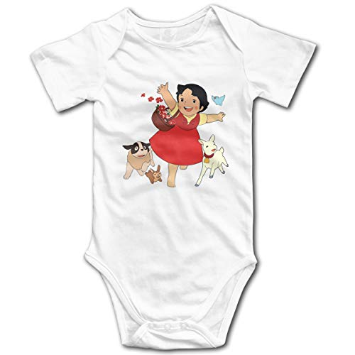Yasia Heidi, The Girl from The Alps Fitted Scoop Baby Onesies Short-Sleeve Bodysuit 18M White