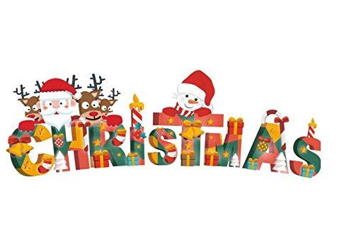 2020 Creative Christmas Adesivi Murali Autoadesivi Soggiorno Camera dei Bambini Pvc Graffiti Babbo Natale Alce Pupazzo di Neve