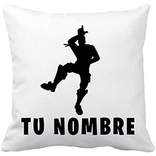 Diver Bebé Cojín con Relleno Pose Take The L Baile Loser Personalizable con Nombre - Blanco, 35 x 35 cm