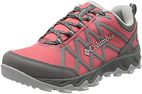 Columbia Peakfreak X2 Outdry, Zapatillas de Senderismo Mujer, Rojo (Juicy/Pure Silver 608), 36.5 EU
