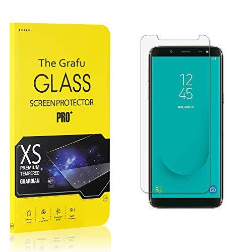 Verre Trempé pour Galaxy J6 2018, The Grafu 9H Dureté Film Protection Écran Vitre, Anti Rayures Protection en Verre Trempé Écran pour Samsung Galaxy J6 2018, 4 Pièces