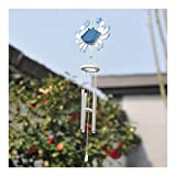 RWX Crab Starfish Music Wind Chime Metal Pipe Bells Used in Inn Home Balcony Garden Pendant Pendant (Color : Crab Type)