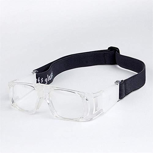 Aeromdale Sports Goggles Gafas protectoras de protección de seguridad para el baloncesto con correa ajustable para baloncesto Fútbol Voleibol Hockey Fútbol Protector de gafas para niños - Blanco - # 9