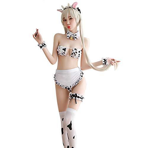 Joyralcos Dalmatiner Milk Leopard Cosplay Kostüm Anime Sexy Mini Kuh Bikini Dessous Set -  -  Einheitsgröße