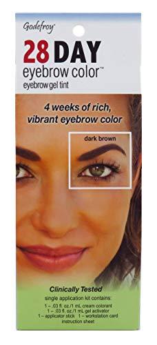 Godefroy 28 Day Eyebrow Color Gel Tint - Dark Brown, 1 Ea, 1count
