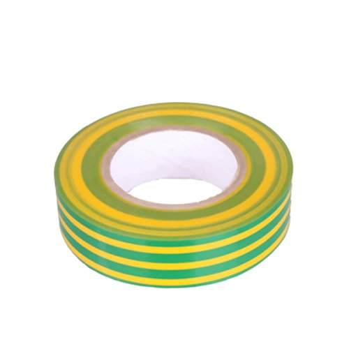 K24–Klebebänder–Nastro isolante in PVC Lunghezza 10m, larghezza 15mm, giallo/verde