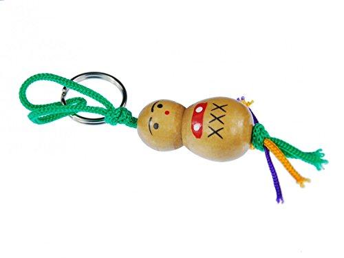 Miniblings Glücksbringer Männchen Schlüsselanhänger Glückspüppchen Holz Puppe - Handmade Modeschmuck I I Anhänger Schlüsselring Schlüsselband Keyring