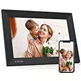 """Digital Picture Frame WiFi with 10.1"""" IPS HD Touch Screen, 16GB Storage, Share Photo via App, Email,Wall-Mountable/Auto-Rotate/Support 1080P Video/USB/SD Card"""