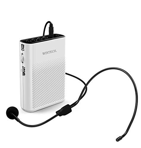 WINTECH ハンズフリー 拡声器 マイクロSD/USB(MP3、WMA,WAV)再生対応・AUXIN端子 KMA-200