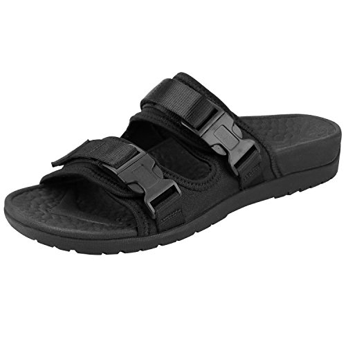 Everhealth Orthopädische Pantoletten Damen Sandalen mit Weichem fußbett Stylische Hausschuhe Sandaletten Frauen unterstützt das Fußgewölbe, für Plantarfasziitis, Flache Füße und Fersenschmerzen