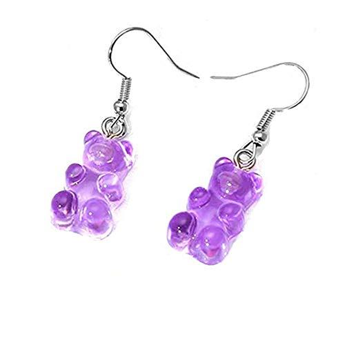 Tukcherry Pendientes para niñas (púrpura)