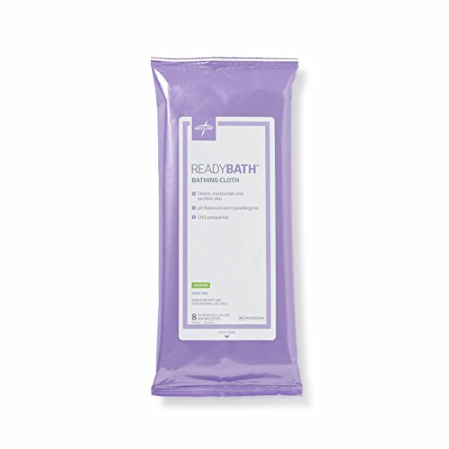 Medline - MSC095304 ReadyBath Scented Body Cleansing Cloths, Standard Weight Wipes (8 Count Pack, 30 Packs)
