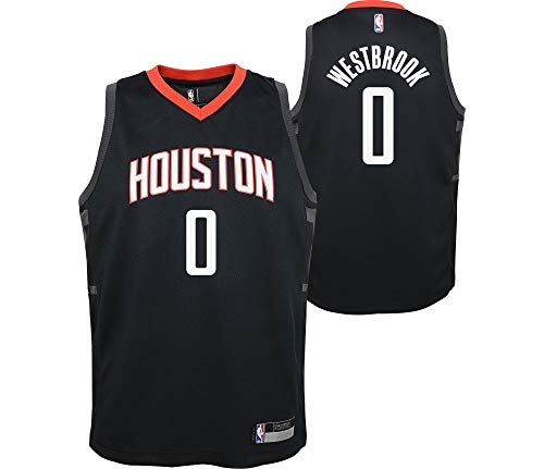 Outerstuff Russell Westbrook Houston Rockets #0 Youth 8-20 Black Statement Edition Swingman Jersey (14-16)