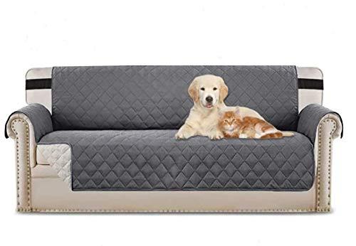 FENRIR Funda de Sofas 3 Plazas Impermeable Fundas para Sofa Antideslizante Cubierta para Sofa Protector para Sofás para Perros Gatos Lavable (Gris)
