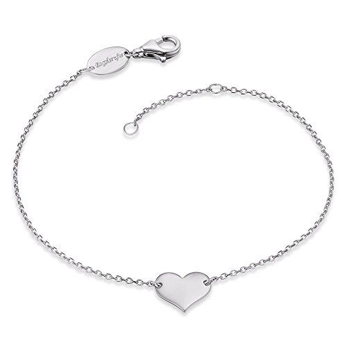 Engelsrufer Damen Armband Little Heart 925er-Sterlingsilber rhodiniert Länge 16 cm + 2 cm