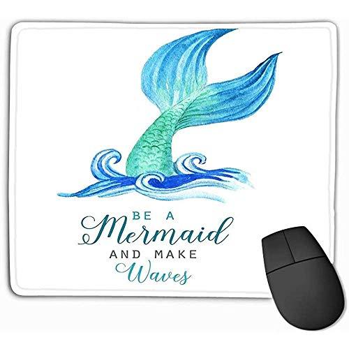 Emonye Mouse Pad Beautiful Mermaid Character sea Template Poster Card Invitation Beautiful Mousepad 25 * 30CM