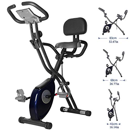 Folding Spinning Bike, Home Fitness Apparatuur, Indoor Magnetic Controle Hometrainer, Pedaal Mute Fitness Training Hometrainer,Blue