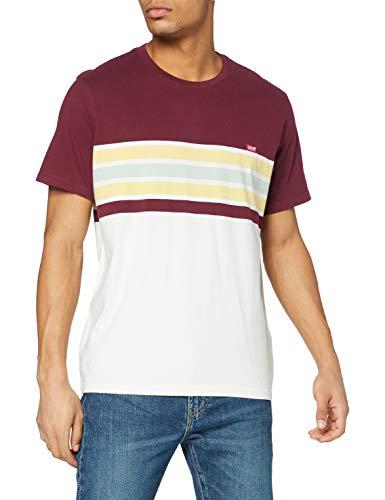 Levi's Herren SS Original HM Tee T-Shirt, Pop Stripe Port, L