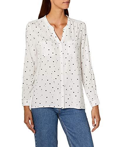ONLY Damen onlFIRST LS Pocket AOP Shirt NOOS WVN Bluse, Mehrfarbig (Cloud Dancer Starshine), 36