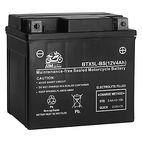 BM バイク用 バッテリー 液入り 充電済み BTX5L-BS (YTX5L-BS / GTX5L-BS / FTX5L-BS / KTX5L-BS 互換)