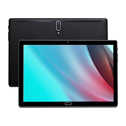 Tablet 10.1 Pollici Tablet Android 10.0 4G con 4 GB di RAM + 64 GB di ROM Dual Sim Card 5MP + 8MP Fotocamera, WiFi, Bluetooth, GPS, Deca Core, touchscreen HD, supporto chiamate telefoniche 4G (Nero)
