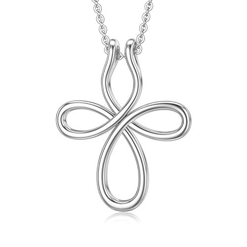 MISTBEE Ring Holder Necklace 925 Sterling Silver Celtic Cross Necklaces for Women Girlfriend Ring Pendant Holder Necklaces