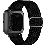 ❤ 【Compatible Model】 Fengyiyuda straps compatible with Fitbit Versa / Versa 2 / Versa SE / Versa Lite. ❤ 【Soft and light】 Soft nylon materials are skin-friendly and soft in contrast to heavy metal. All of these stretchable watch straps are lightweigh...