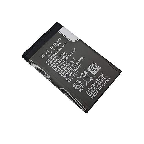 1 Pezzi 1020 mAh BL-5C BL5C BL 5C Batteria per Nokia 6230 6330 6263 6267 6270 6555 6600 6630 6670 6680 6681 6682 6820 (1 Pezzi)
