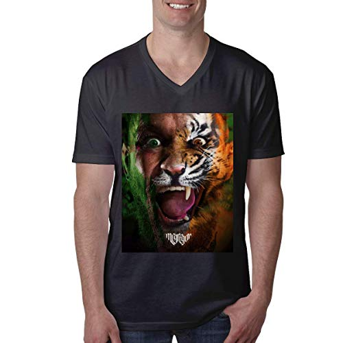 HuXiHuXiHu Camisetas y Tops Hombre Polos y Camisas, Leisure Men's T-Shirt Conor Mcgregor Notorious V Neck Short Sleeve T-Shirts