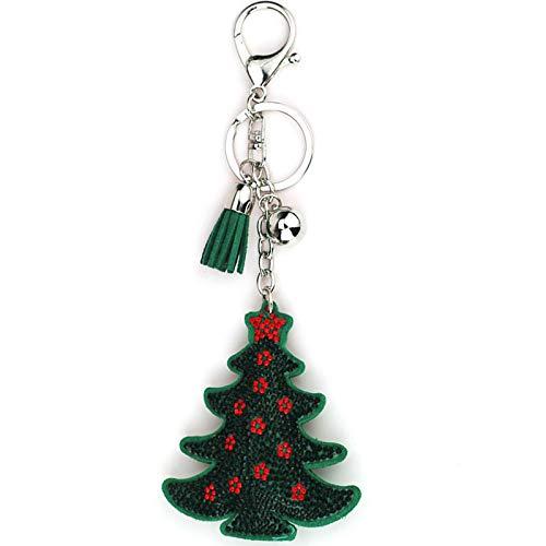 Xbd 5 Stücke Weihnachtsschlüsselbund,Weihnachtsdiamantmalerei Schlüsselbund,Weihnachtselement Weihnachtsbaum,Flanellanhänger Schlüsselbund,kreatives Schlüsselbund