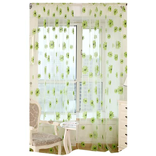 kexinda Sunflower Floral Sheer Transparent Voile Tür, Balkon, Fenster-Bildschirm Vorhang