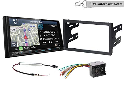%45 OFF! Kenwood Excelon DNX996XR Double Din Radio Install Kit With Apple CarPlay, Android Auto, Sir...
