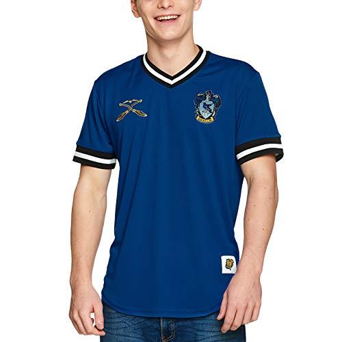 Harry Potter Herren T-Shirt Ravenclaw Quidditch Team Trikot blau - XXL