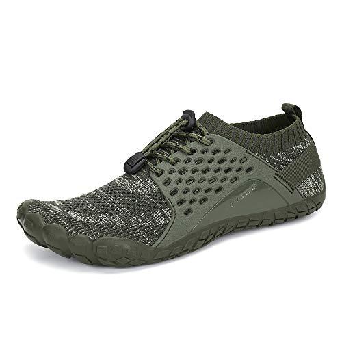 Oberm Herren Trail Laufschuhe Minimalist Wide Toe Box Barfuß Sneaker Wat.