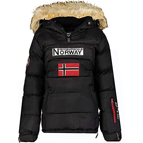 Geographical Norway BELANCOLIE Lady - Parka de Mujer cálida - Abrigo Capucha de Piel sintética - Chaqueta Invierno Acolchada - Chaqueta Corta Forro cálido - Regalo de Mujer