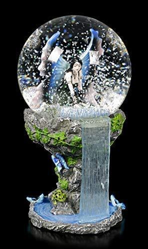 Unbekannt Fantasy Elfen Schneekugel - Immortal Flight Motiv von Anne Stokes | Dekoartikel, handbemalt, inkl. Geschenkbox
