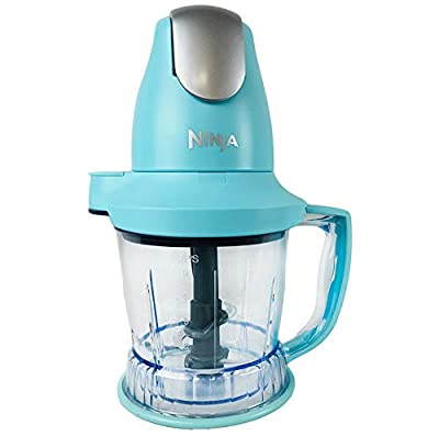 Ninja Storm Master Prep Food Processor Blender Powerful One Touch 450W Motor Pod BPA-Free Pitcher Dishwasher Safe QB751Q (Renewed) (Baby Blue)
