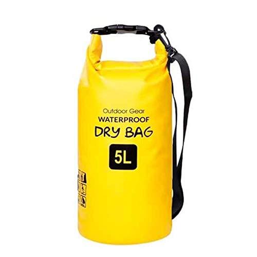ZhaoCo Wasserdichter Packsack, 5L/10L/20L/30L wasserdichte Tasche Sack PVC Dry Bag für Kayaking, Bootfahrt, Kanufahren, Fischen, Rafting, Schwimmen, Kampieren, Snowboarding Wassersport(Gelb, 30L)