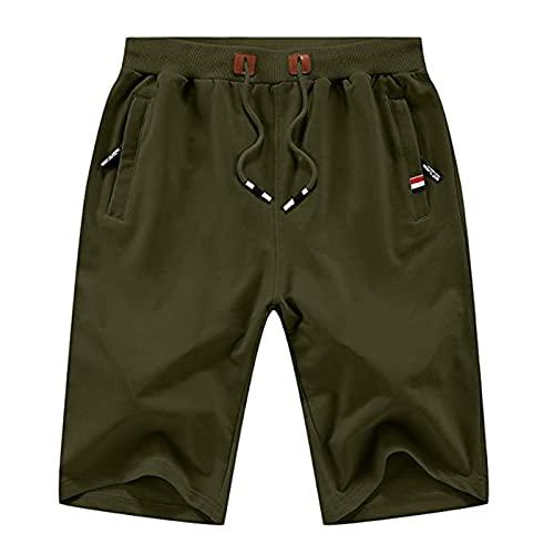 XDXT Pantalones Cortos para Hombres Casual Classic Fit Drawstring Summer Beach Shorts L