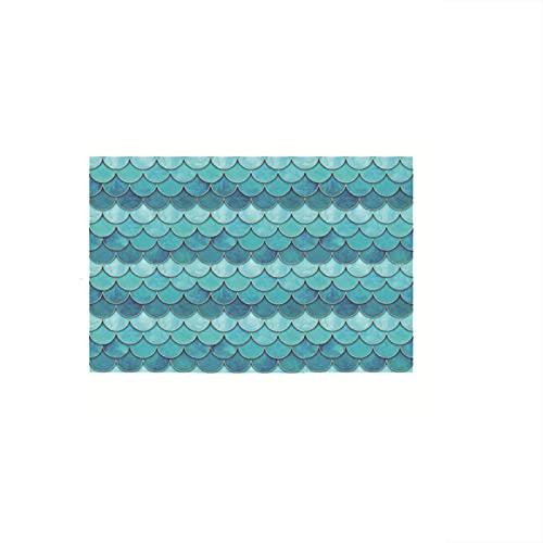 11.6X12.2 Pulgadas Pelar Y Pegar Azulejos Para Salpicaduras, Escamas De Pescado Autoadhesivas 3D Para Azulejos, Adhesivos De Pared Para Cocina