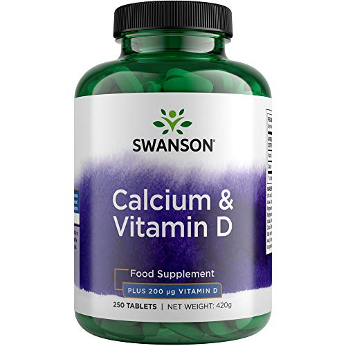 Swanson Calcium Citrate with Vitamin D, 250 Tablets
