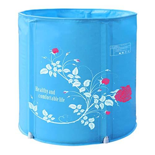 CTO Tragbare faltbare Badewanne, freistehende Badewanne aus Kunststoff für kleine Duschkabine Badezimmer Spa, ideal für heißes Bad Eisbad, 3 Größen,B